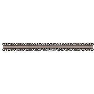 DEKOBAND / RIBBONS / RUBANS ... Ruban mousseline avec pointe de bord ornement en noir