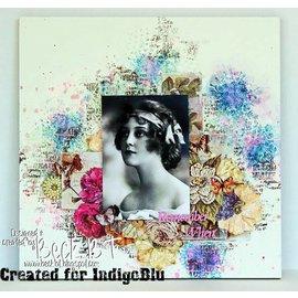 Karten und Scrapbooking Papier, Papier blöcke IndigoBlu Floral Fantasy A6 Mixed Media Card Stack