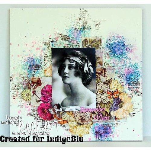 Karten und Scrapbooking Papier, Papier blöcke IndigoBlu Floral Fantaisie A6 Mixed Media Card Stack