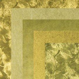 BASTELZUBEHÖR, WERKZEUG UND AUFBEWAHRUNG Papir, 15,0 x 15,0 cm, guld metallics teksturer