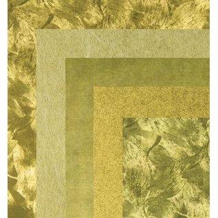 BASTELZUBEHÖR, WERKZEUG UND AUFBEWAHRUNG Papier, 15,0 x 15,0 cm, goud metallics texturen