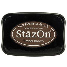 FARBE / STEMPELKISSEN StaZon Stempeltinte, Timber Braun (Stazon Tinte  ist farbecht und wasserbeständig)