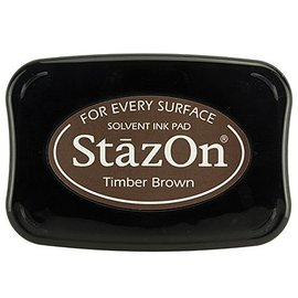 FARBE / STEMPELKISSEN Tinta para estampado StaZon, Timber Brown (la tinta Stazon es resistente al agua y al color)