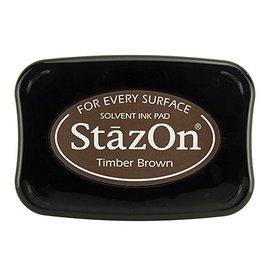 FARBE / STEMPELKISSEN Tinta para estampado StaZon, Timber Brown (la tinta Stazon es resistente al agua y al color)