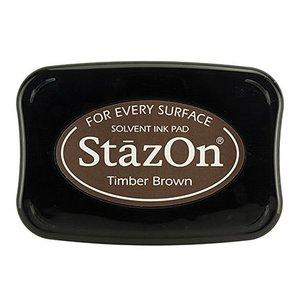 FARBE / STEMPELKISSEN StaZon stemplingblæk, tømmerbrunt (Stazon-blæk er farvestof og vandtæt)