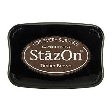 FARBE / STEMPELKISSEN Inchiostro per timbratura StaZon, Timber Brown (l'inchiostro Stazon è resistente al colore e all'acqua)