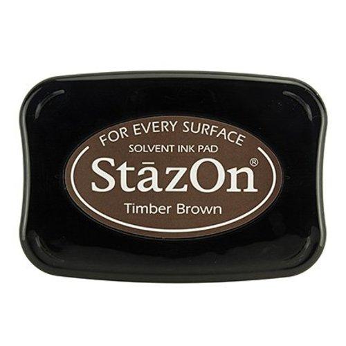 FARBE / STEMPELKISSEN Encre pour estamper StaZon, Timber Brown (l'encre Stazon résiste à la lumière et résiste à l'eau)