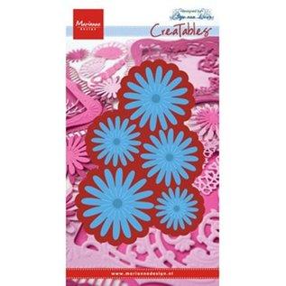 Marianne Design Stamping template: Anja's Flower set
