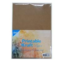 Cardstock, A4 Bedruckbares Kraftpapier, 175 gr, 25 Blatt