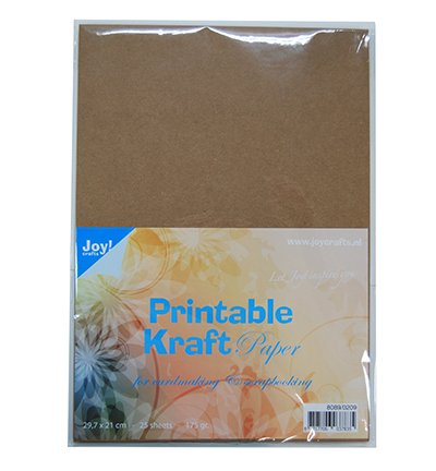 image about Printable Kraft Paper called A4 printable kraft paper, 175 gr, 25 sheets