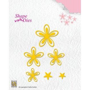 Nellie Snellen Ponsen sjabloon: 4 bloemen