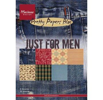 Karten und Scrapbooking Papier, Papier blöcke Designersblock, A5, kun for mænd