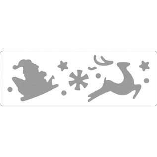 Locher / Stanzer / Punch Borders-punch: Kerstman en rendier