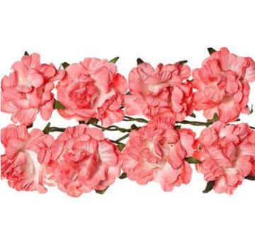 BLUMEN (MINI) UND ACCESOIRES Fleurs en papier: rose, rose