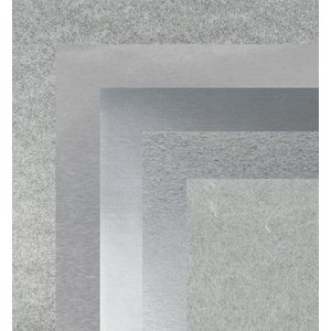 BASTELZUBEHÖR, WERKZEUG UND AUFBEWAHRUNG Paper, 15.0 x 15.0 cm, silver metallics textures