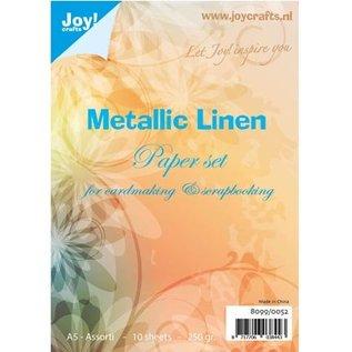 Karten und Scrapbooking Papier, Papier blöcke Paper set Metallic linen Structuur, A5