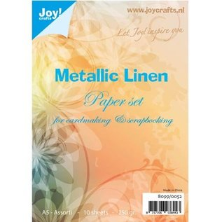 Karten und Scrapbooking Papier, Papier blöcke Papierset Metallic Leinen Structuur, A5