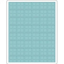 Prägefolder Embossing Folder: Tim Holtz, Stitched Plaid