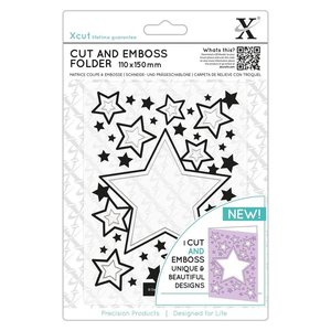 Docrafts / X-Cut Cutting & Embossing: stars, A5 format!