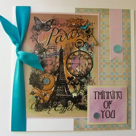Stempel / Stamp: Transparent Clear Stempel: Paris Collage