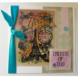 Stempel / Stamp: Transparent Clear Stempel: Paris Collage