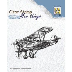 Clear stamp: airplane
