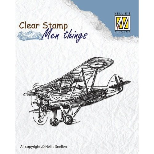Stempel / Stamp: Transparent timbre clair: Avion