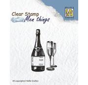 Stempel / Stamp: Transparent Clear Stempel: Wein Probe