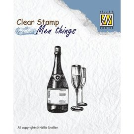 Stempel / Stamp: Transparent Clear Stempel: Wein Probe