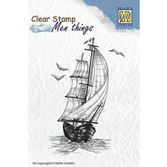 Clear stamp: sailboat