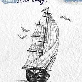 Stempel / Stamp: Transparent Clear Stamps: Sailboat