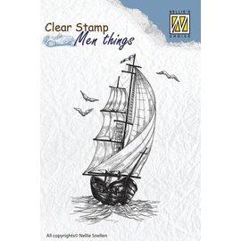 Stempel / Stamp: Transparent Timbri trasparenti: barca a vela