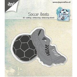 Joy!Crafts / Jeanine´s Art, Hobby Solutions Dies /  Stansning skabelon: Fodboldstøvler