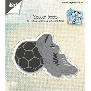 Joy!Crafts / Jeanine´s Art, Hobby Solutions Dies /  Ponsen sjabloon: Voetbalschoenen