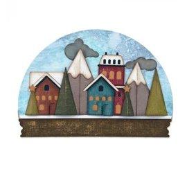 Sizzix Ponsen sjabloon: Snow Globe