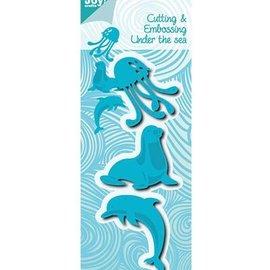 Joy!Crafts / Jeanine´s Art, Hobby Solutions Dies /  Stanzschablonen: Seehund, Delfine und Qualle