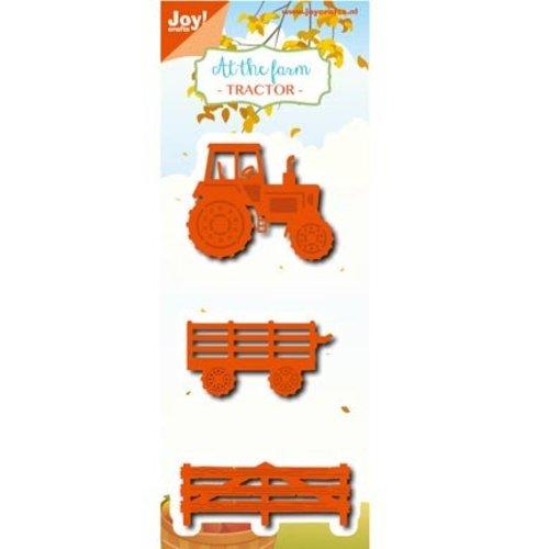 Joy!Crafts / Jeanine´s Art, Hobby Solutions Dies /  Stanzschablonen:  Traktor und Zubehör