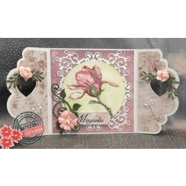 Joy!Crafts / Jeanine´s Art, Hobby Solutions Dies /  Stamping template: romantic frame SET: rectangle, circle and corner