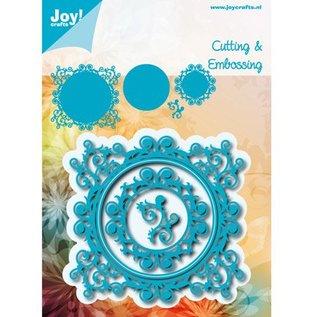 Joy!Crafts / Jeanine´s Art, Hobby Solutions Dies /  Ponsen sjabloon: Romantisch frame SET: rechthoek, Cirkel en hoek