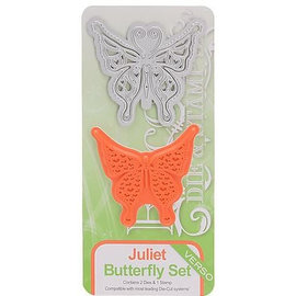 Tonic Studio´s Stamping template and stamp: Butterfly Felicity