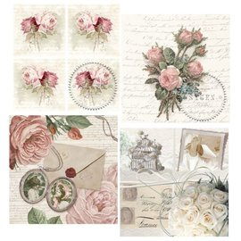 DECOUPAGE AND ACCESSOIRES 4 assorted designer decoupage napkins