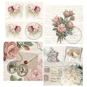 DECOUPAGE AND ACCESSOIRES 4 assorted designer decoupage napkins