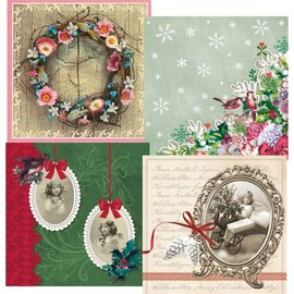 DECOUPAGE AND ACCESSOIRES 4 Decoupage Servilletas de diseño, Navidad de la vendimia