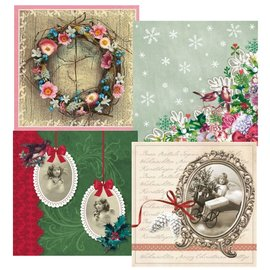 DECOUPAGE AND ACCESSOIRES 4 Design Decoupage napkins, vintage Christmas
