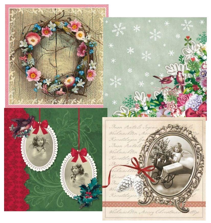 Immagini Vintage Natale.Decoupage And Accessoires 4 Progettista Decoupage Tovaglioli Vintage Natale Hobby Crafts24 Eu Italia