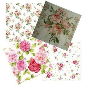 DECOUPAGE AND ACCESSOIRES 4 design napkins in vintage design