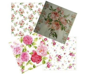 DECOUPAGE AND ACCESSOIRES 4 design napkins in vintage design