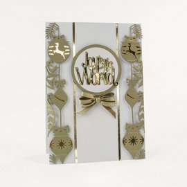 Tonic Studio´s troqueles de corte: rectángulos marco decorativo con motivos navideños