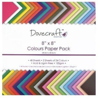 Karten und Scrapbooking Papier, Papier blöcke Papierblok met 48 vellen