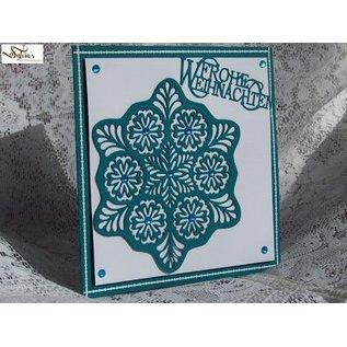 Nellie Snellen Nellie Snellen, punzonatura e goffratura stencil, Stained Glass Questa - Fantasy fiore 2